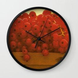 red currants Wall Clock