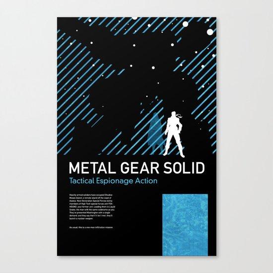 Metal Gear Solid Canvas Print