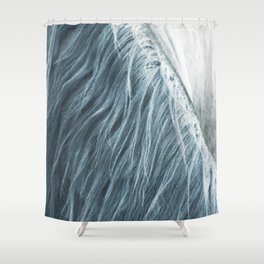 Horse mane photography, fine art print n°1, wild nature, still life, landscape, freedom Shower Curtain