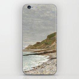 La Pointe de la Hève, Sainte-Adresse by Claude Monet iPhone Skin