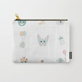 Cute animals  and balloon pattern Carry-All Pouch