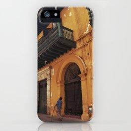 Swinging Yellow - Enchanting Cartagena de Indias - Magical Realism iPhone Case
