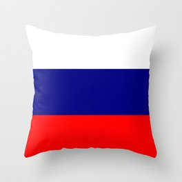 Flag of Russia Throw Pillow
