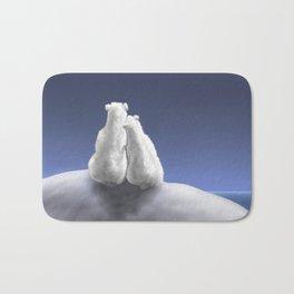 Polar Bears by Moonlight Bath Mat