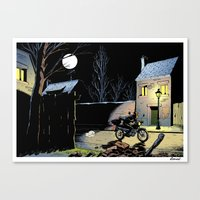 moto Canvas Prints featuring Moto by Yves Rodier