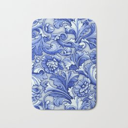 Blue and White Porcelain Bath Mat