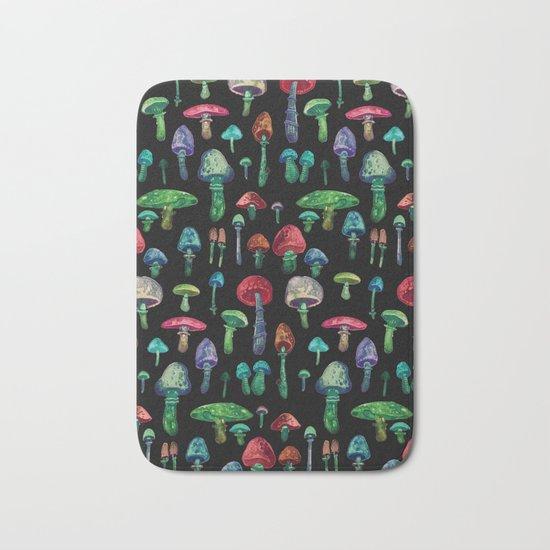 mushrooms at nigth Bath Mat