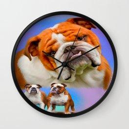 English Bulldog Breed Art Wall Clock