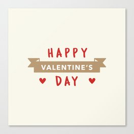 Happy Valentine's Day Canvas Print