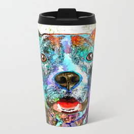 American Pit Bull Terrier Metal Travel Mug