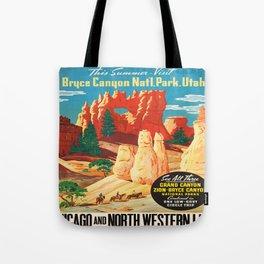 Vintage poster - Bryce Canyon Tote Bag