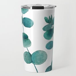 green eucalyptus watercolor Travel Mug