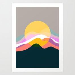 Sunrise From Mountain Art Print