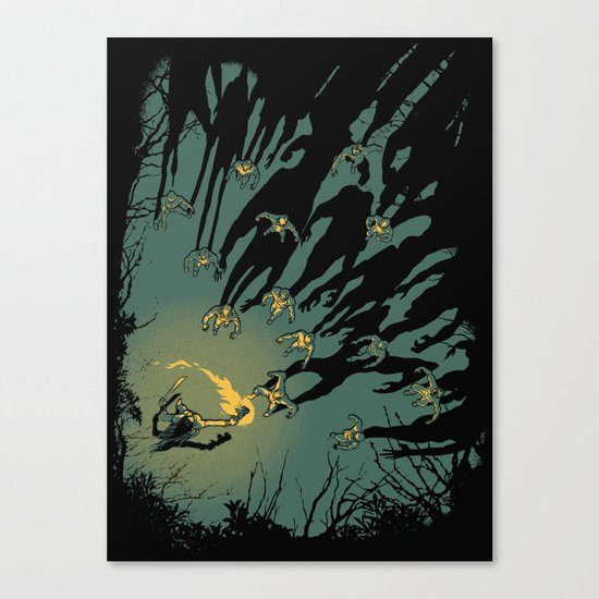 Zombie Shadows Canvas Print