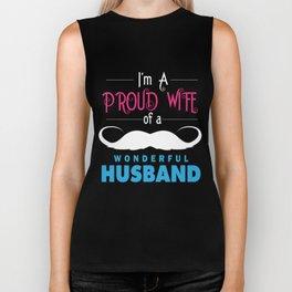 Wife T-Shirt Funny I'm Proud A Wife Anniversary Gift Biker Tank