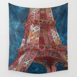 Eiffel Tower by Lu Wall Tapestry
