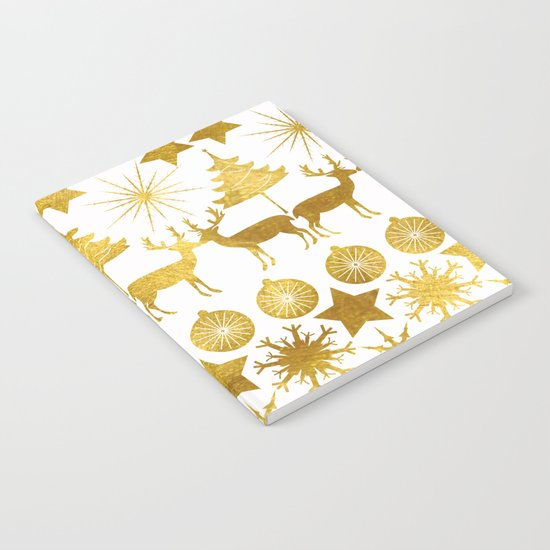 Gold Christmas 04 Notebook