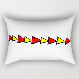 Funny triangles-abstraction,abstract,geometric,geometrical,pattern,triangle,order Rectangular Pillow