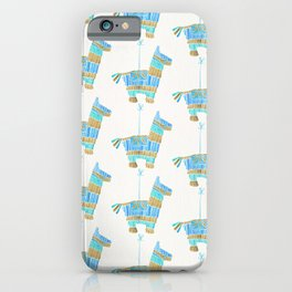 Mexican Donkey Piñata – Blue & Gold Palette iPhone Case