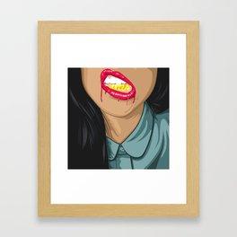 Swag girl Framed Art Print