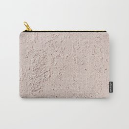 Peach Paint Concrete Wall Texture Carry-All Pouch