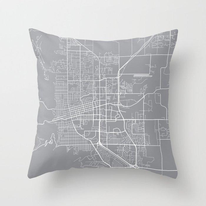 Boulder Map, Colorado USA - Pewter Deko-Kissen