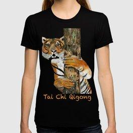 Tai Chi Tiger Design T-shirt
