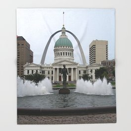 St. Louis arch Throw Blanket