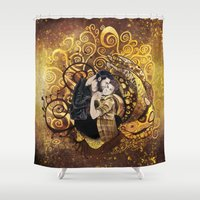 sterek Shower Curtains featuring The Sterek Kiss by MGNemesi