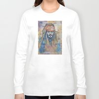 jack sparrow Long Sleeve T-shirts featuring Jack Sparrow by Nicola Girello