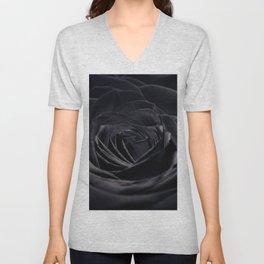 Black rose Unisex V-Neck