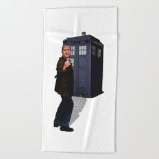 9th Doctor Beach Towel
