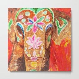 Painted Elephant Metal Print