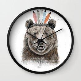Festival bear Wall Clock