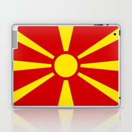 Flag of Macedonia - authentic (High Quality image) Laptop & iPad Skin
