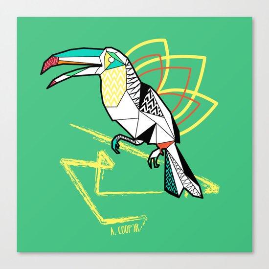 Geometric toucan Canvas Print