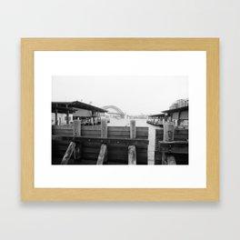Water barrier Framed Art Print