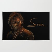 winchester Area & Throw Rugs featuring Sam Winchester by Sarah Sangelus