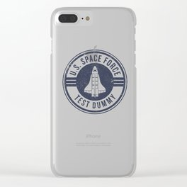 """Test Dummy"" US Space Force design - USA Space Force graphics Clear iPhone Case"