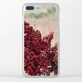 Smooth Sumac Clear iPhone Case