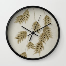 khaki oat grass Wall Clock