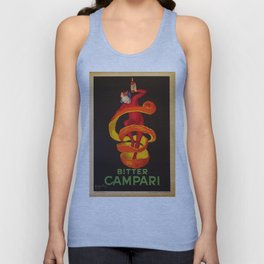 Vintage Orange-Green Motif Bitter Campari Aperitif Advertisement Print Poster Unisex Tank Top