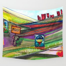 Groovy Snoopy Nature Collage Wall Tapestry