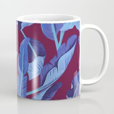 Tropical '17 - Blue Bird Of Paradise [Banana Leaves] Coffee Mug