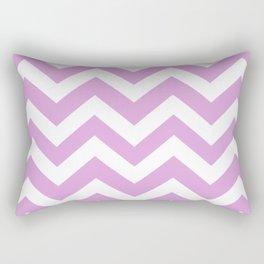 Pale plum - violet color - Zigzag Chevron Pattern Rectangular Pillow