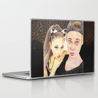 ariana grande Laptop & iPad Skins featuring Ariana and Justin by Share_Shop
