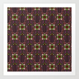 Arts and Crafts style floral pattern Art Print