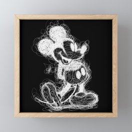 Mickey Mouse inverted Scribble Framed Mini Art Print
