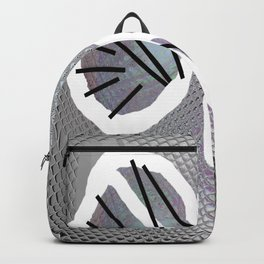 Line and metal Backpack