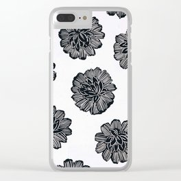 Black and White 02 Clear iPhone Case